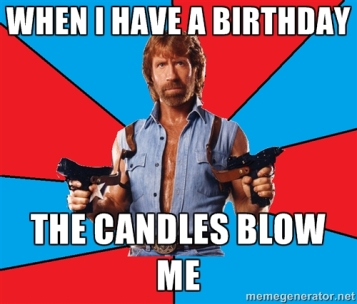 Uno dei meme su Chuck Norris